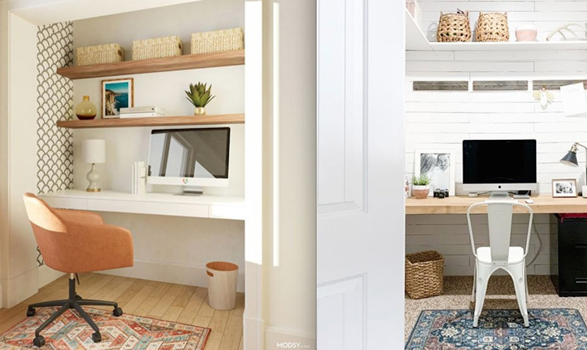 Home office: This is the way to hide your workplace at home